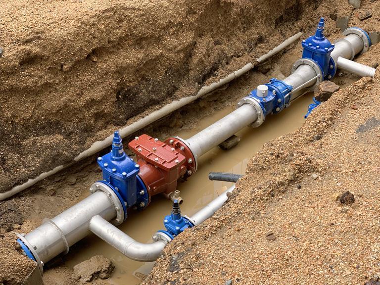 kompleksowa budowa sieci iprzyłączy wodociągowych